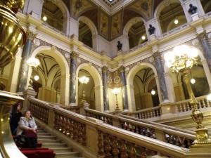 Interior of National Museum concert on stairs