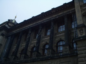 bullet damage to National Museum