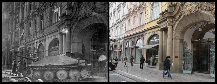 WW2 tank and today shopping