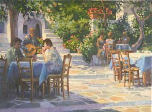 painting of Lefkes