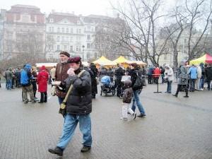 winter pork festival, Prague