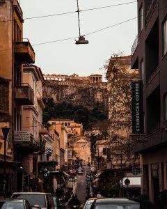 Acropolis view street