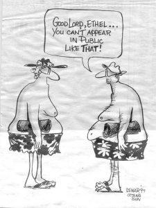appear topless in public