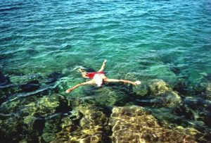 Michael snorkelling
