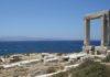 Naxos arch, background Paros