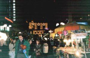 Athens Christmas vendors