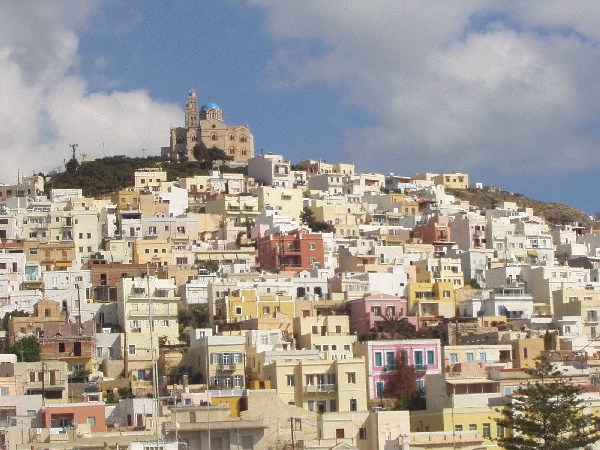 Ano Syros with church on top