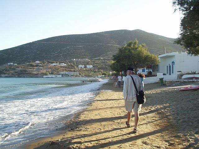 Michael beach path Platys Gialos