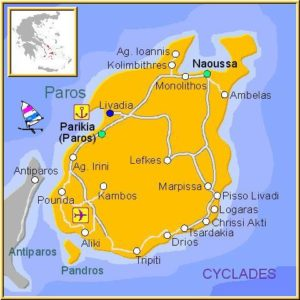 artistic map of Paros