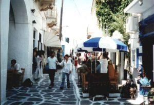 market street, Parikia