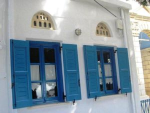Tinos marble door fans
