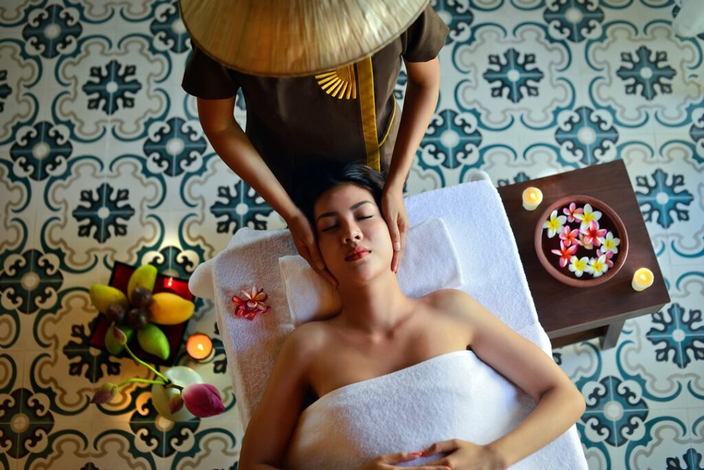 Asian relaxing spa treatment