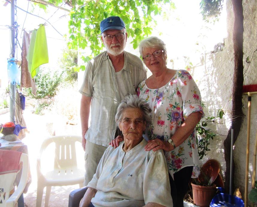 Greek yah yah with visitors